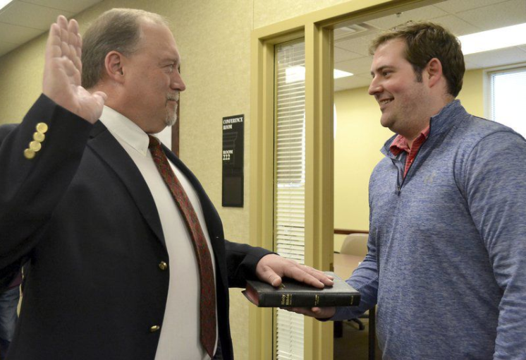 Brent Wheat as the newest at-large Lebanon City Council member