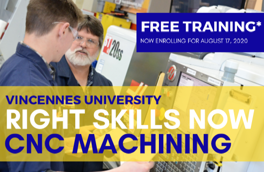 "Vincennes University Starting ""Right Skills Now"" Program at Gene Haas Center in Lebanon"