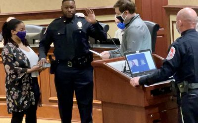 Lebanon Police Adds New Officer, Honors Another