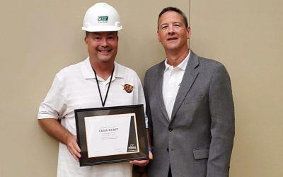 Hurst Receives Road Builder Award